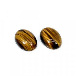 Natural Tiger Eye Oval Cabochon 18x13mm 21.95 Cts 1 Pair Loose Gemstone