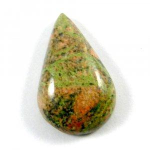 Natural Unakite Jasper 31x19mm Pear Cabochon 33.0 Cts
