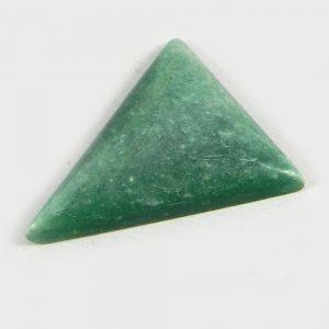 Natural Verdite Jasper 27x23mm Trillion Cabochon 17.5 Cts