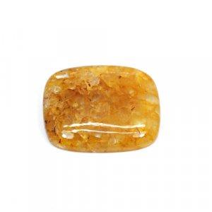 Natural Yellow Aventurine 27x22mm Cushion Cabochon 31.50 Cts Loose Gemstone