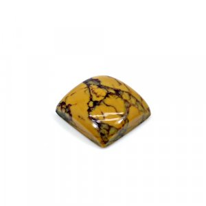 Natural Yellow Dendritic Opal 15x15mm Square Cabochon 10.30 Cts Loose Gemstone