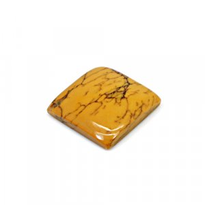Natural Yellow Dendritic Opal 16x16mm Square Cabochon 9.40 Cts Loose Gemstone