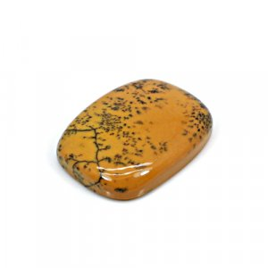 Natural Yellow Dendritic Opal 21x18mm Rectangle Cushion Cabochon 30.80 Cts Loose Gemstone