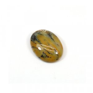 Natural Yellow Dendritic Opal 22x16mm Oval Cabochon 13.70 Cts Loose Gemstone