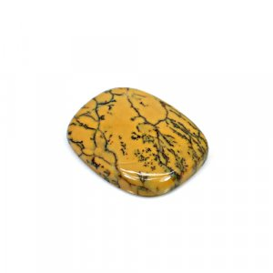 Natural Yellow Dendritic Opal 27x22mm Rectangle Cushion Cabochon 24.15 Cts Loose Gemstone