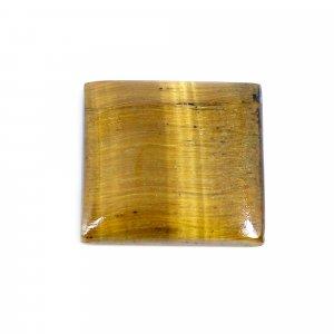 Natural Yellow Tiger Eye 21x20mm Square Cabochon 18.00 Cts