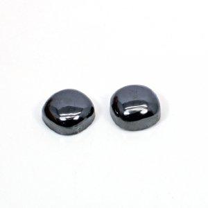 Nautral Hematite 12mm Cushion Cabochon 1 Pair 28.65 Cts Loose Gemstone