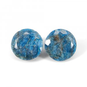 Neon Apatite 18mm Round Faceted Cut 21.65 Cts