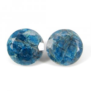 Neon Apatite 18mm Round Faceted Cut 22.40 Cts