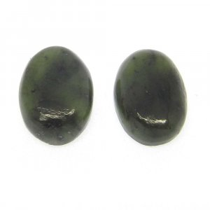 Nephrite Jade 14x10mm Oval Cabochon 6.65 Cts
