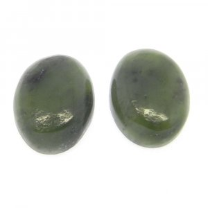Nephrite Jade 16x12mm Oval Cabochon 9.0 Cts