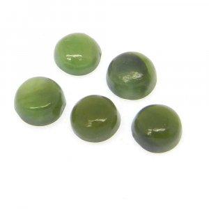 Nephrite Jade 4mm Round Cabochon 0.35 Cts