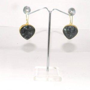 Orbicular Jasper 18k Gold plated Bezel Earring