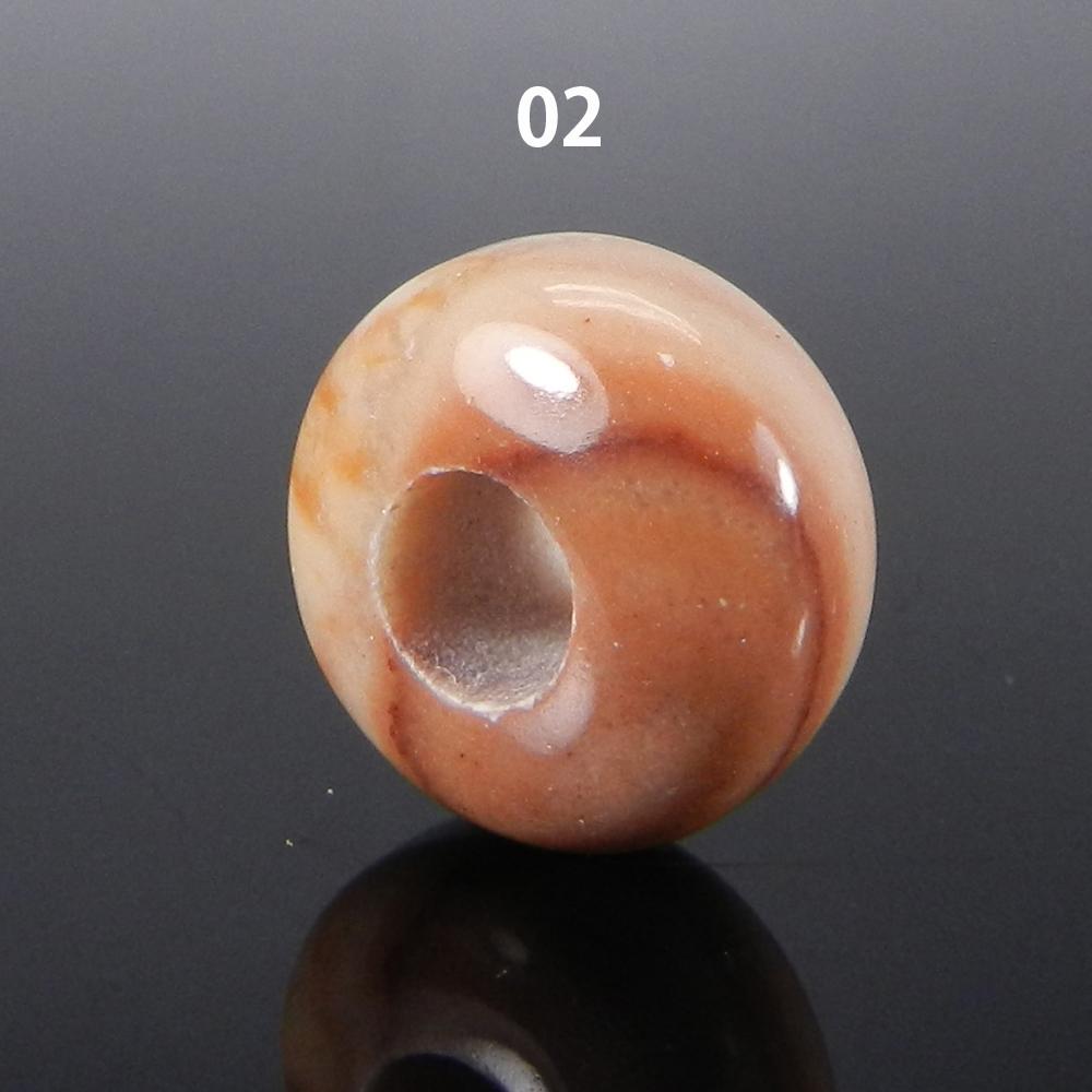 Peanut wood Jasper 14x8x5mm Roundel Smooth Beads