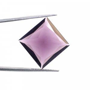Pink Amethyst Hydro 18x18mm Square Cut 16.10 Cts
