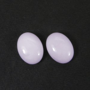 Pink Aragonite 16x12mm Oval Cabochon 7.35 Cts