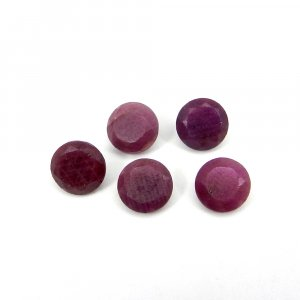 Pink Color Natural Ruby Gemstone 7mm Round Faceted Cut 1.90 Cts