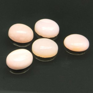 Pink Opal 9x7mm Oval Cabochon 1.85 Cts