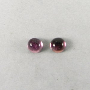 Pink Tourmaline 4mm Round Cabochon 0.3 Cts