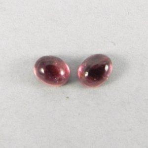 Pink Tourmaline 5x4mm Oval Cabochon 0.4 Cts