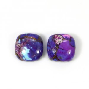 Purple Mohave Turquoise 10x10mm Cushion Cabochon 4.35 Cts