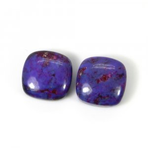 Purple Mohave Turquoise 12x12mm Cushion Cabochon 7.60 Cts