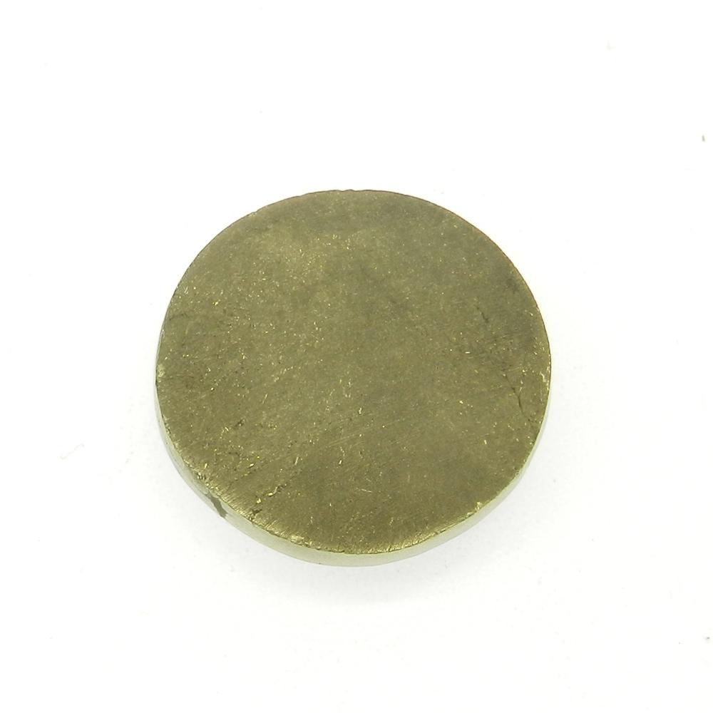 Pyrite Window Druzy 21mm Round 38.7 Cts