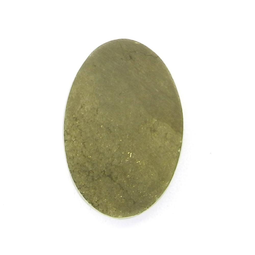 Pyrite Window Druzy 27x18mm Oval 45.8 Cts