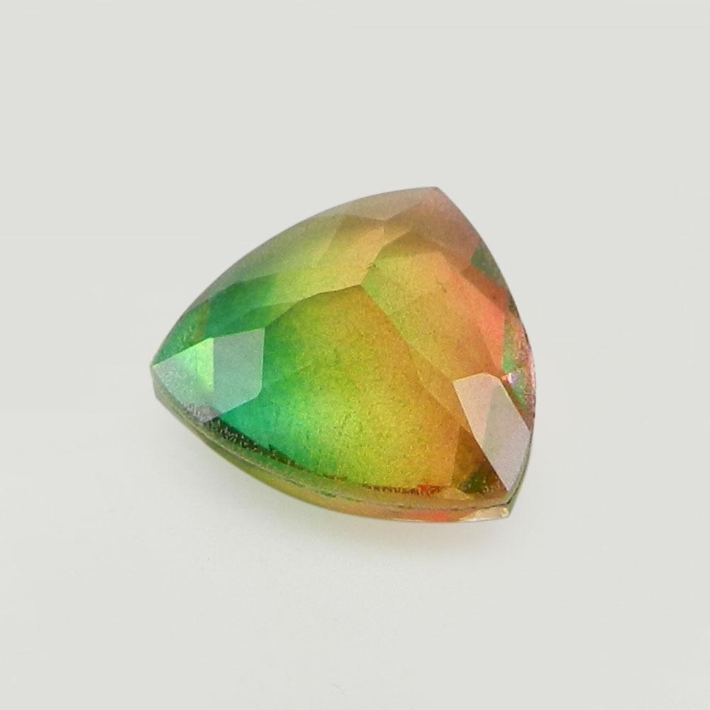 Rainbow Bio Color Doublet 10mm Trillion Cut 3 Cts