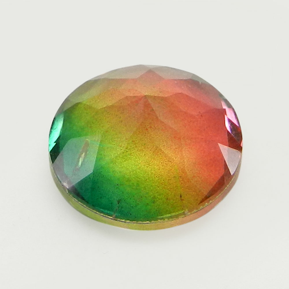 Rainbow Bio Color Doublet 14mm Round Cut 8.7 Cts