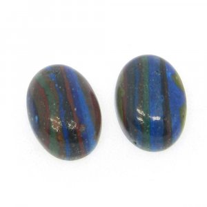Rainbow Calsilica 14x10mm Oval Cabochon 3.8 Cts