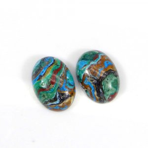 Rainbow Calsilica 14x10mm Oval Cabochon 3.80 Cts