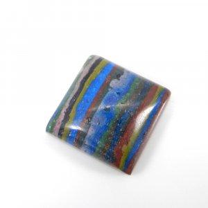 Rainbow Calsilica 15x15mm Square Cabochon 10.60 Cts