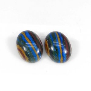 Rainbow Calsilica 16x12mm Oval Cabochon 7.70 Cts