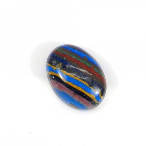 Rainbow Calsilica 18x13mm Oval Cabochon 9.80 Cts