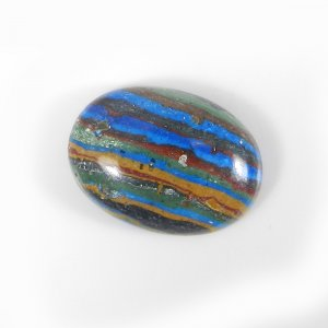 Rainbow Calsilica 20x14mm Oval Cabochon 10.15 Cts