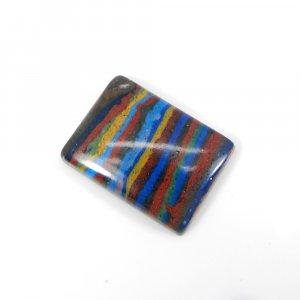 Rainbow Calsilica 20x15mm Rectangle Cabochon 11.10 Cts