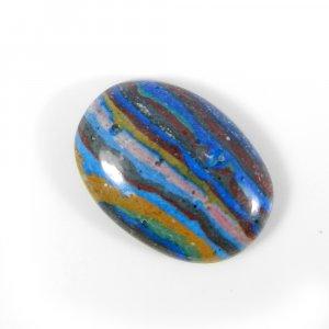 Rainbow Calsilica 21x15mm Rectangle Cabochon 10.95 Cts