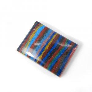 Rainbow Calsilica 21x15mm Rectangle Cabochon 12.60 Cts