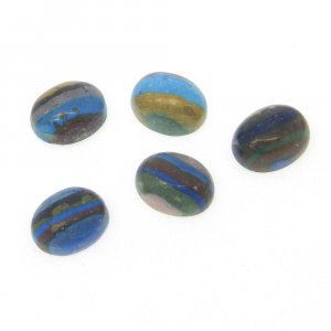 Rainbow Calsilica 8x6mm Oval Cabochon 0.9 Cts