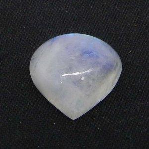 Rainbow Moonstone 13x13mm Heart Cabochon 6.25 Cts