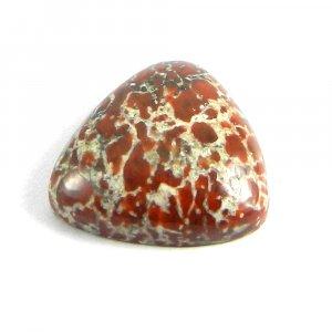 Red Dinosaur Bone Jasper 19x19mm Trillion Cabochon 18.0 Cts