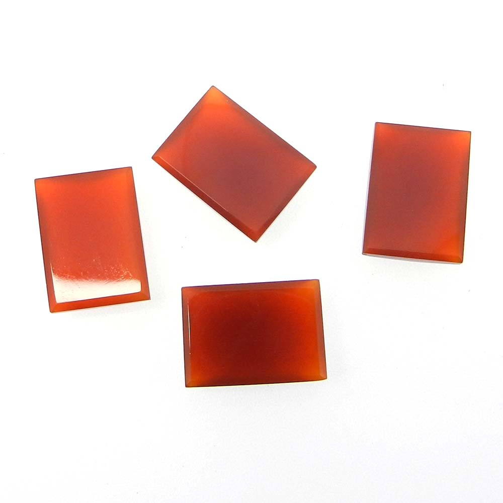 Red Onyx 18x13mm Rectangle Checker Cut 14.3 Cts