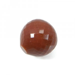 Red Sunstone 15mm Onion Checker Cut 25.03 Cts