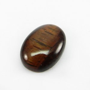 Red Tiger Eye 25x18mm Oval Cabochon 29.3 Cts