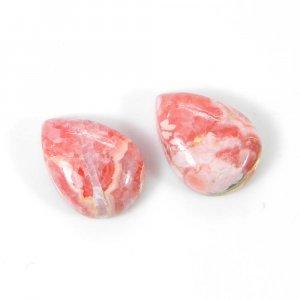 Rhodochrosite 14x10mm Pear Cabochon 7.85 Cts