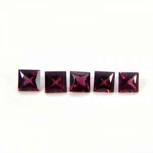 Rhodolite Garnet 5x5mm Square Faceted Cut 0.80 Cts