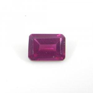 Rhodolite Garnet 7x5mm Octagon Baguette Cut 1.35 Cts
