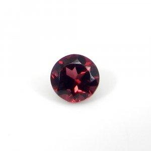 Rhodolite Garnet Gemstone 5x5mm Round Faceted Cut 0.90 Cts