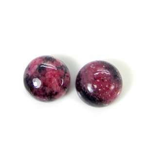 Rhodonite 10x10mm Round Cabochon 5.55 Cts